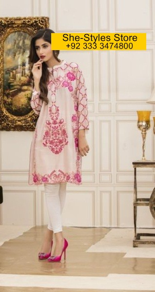 Veena Durrani Chiffon Kurti Collection 2017