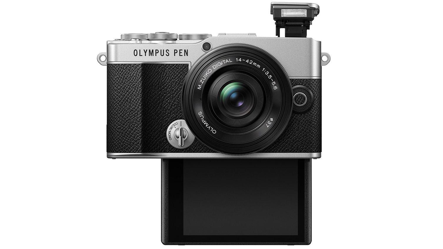 Olympus Pen E-P7, вид спереди