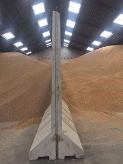 Separadores de hormigón para cereales móviles