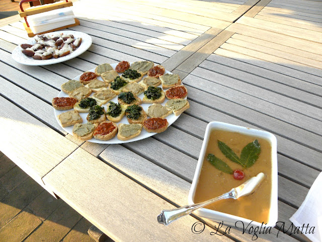 crostini misti toscani e patè