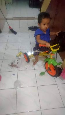 memilih mainan sepeda roda tiga untuk anak