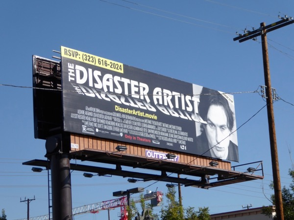 Disaster Artist movie billboard
