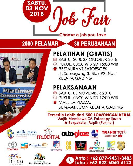 Job Fair Mall La Piazza Kelapa Gading 2018