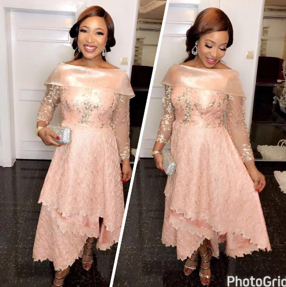 Tonto Dikeh all smiles as she steps out in gorgeous dress