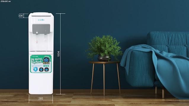 Kích thước cây nước nóng lạnh úp bình Karofi HC16 phù hợp cho sử dụng văn phòng và gia đình
