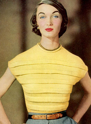 The Vintage Pattern Files : Free 1950's Knitting Pattern - Sun Star Blouse