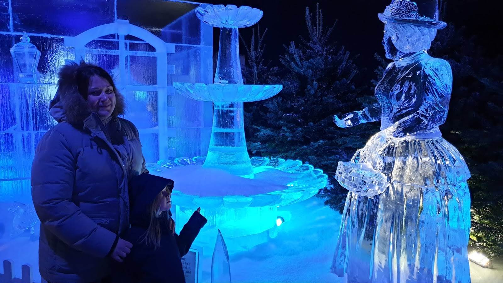 woman ice sculpture