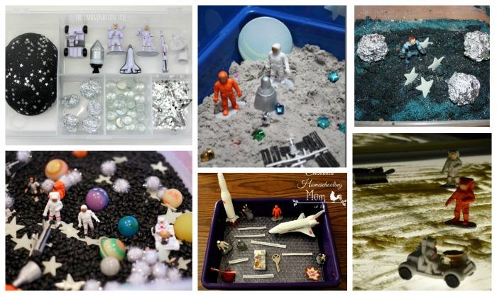 ejemplos de cajas sensoriales para acompañar libros y cuentos del espacio