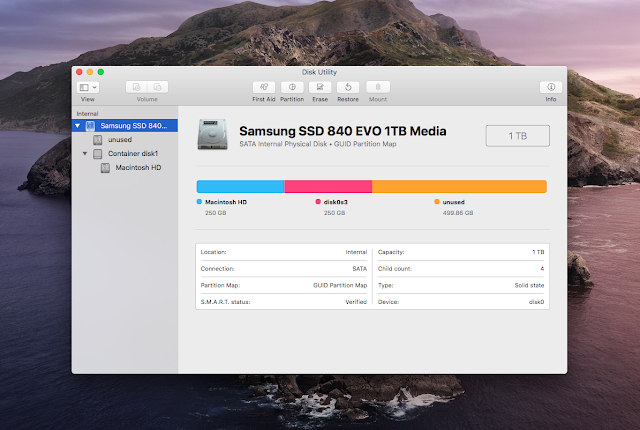 MacBook Pro Dual-Boot Hard Disk SSD Partitioning