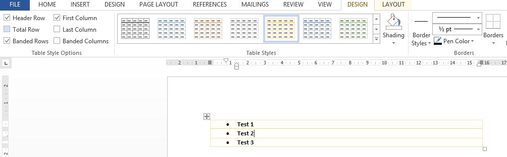 Cara mempercantik Tabel dengan gaya pada microsoft word 2013