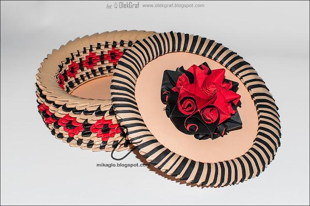 607. Szkatułka z origami / 3d origami flower box