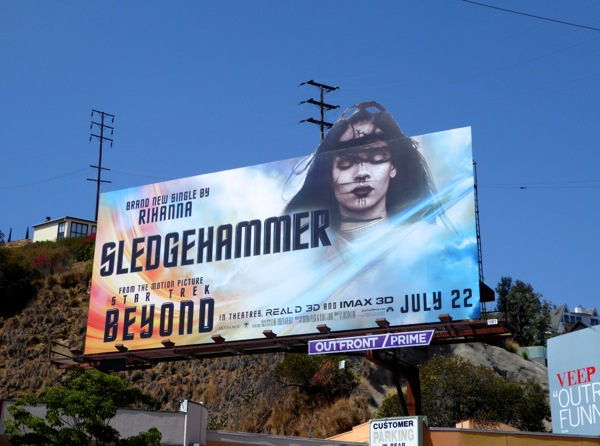 Star Trek Beyond Rihanna billboard