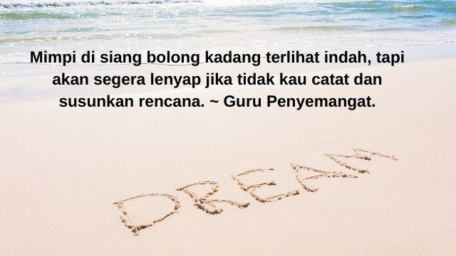 Kata-kata Bijak Mutiara Tentang Menggapai Mimpi