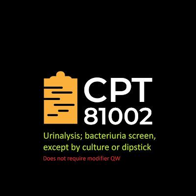 CPT 81002 - Modifier qw