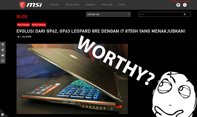 MSI GP63 Leopard 8RE, laptop rasa PC gaming!