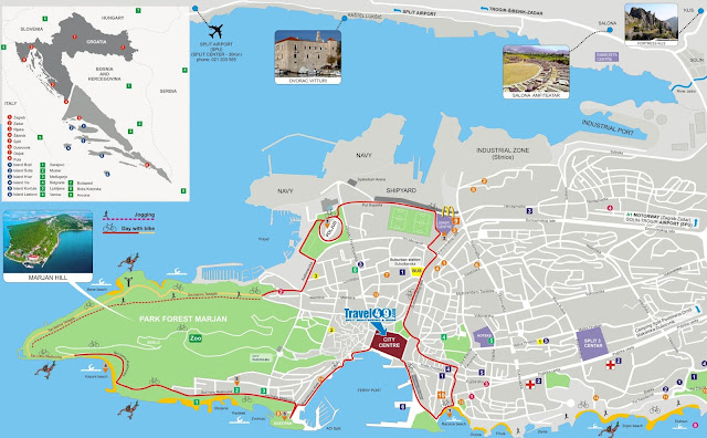 Mapa turístico de Split – Croácia
