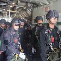 Tim KDOL Brigif Para Raider 18 Kostrad melaksanakan Jungar Free fall