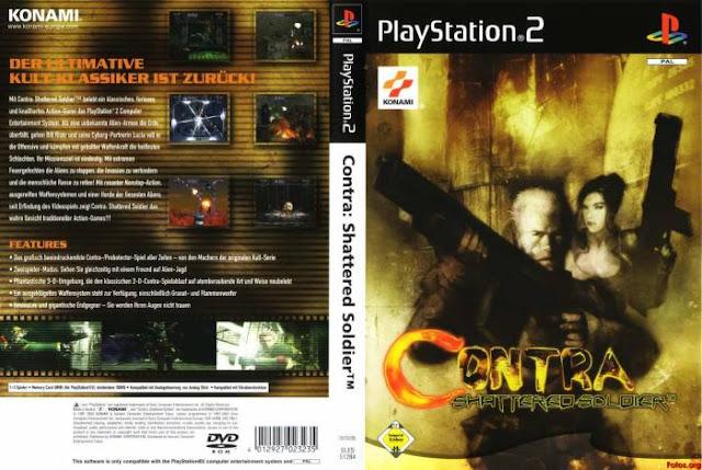 Descargar Contra - Shattered Soldier NTSC-PAL ps2 iso (真魂斗羅, Shin Kontora) es un videojuego de la saga Contra desarrollado por Konami para la plataforma PlayStation 2. Es la sexta entrega oficial de la serie y retoma el modo de juego de anteriores entregas como Contra y Contra III: The Alien Wars.