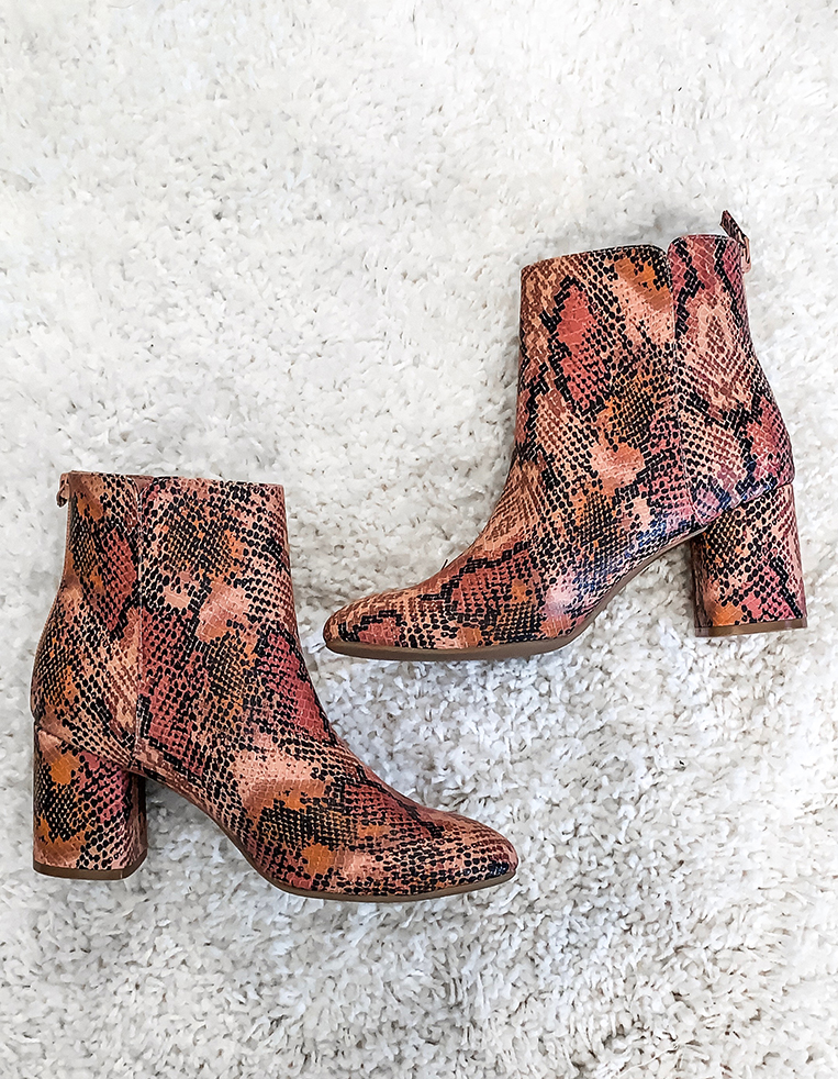 Animal Print Booties - Chasing Cinderella