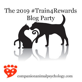 The train for rewards blog party button
