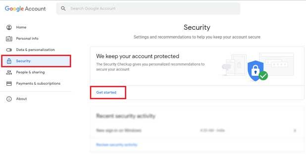 Email में Security Setting को Configure कैसे करें?