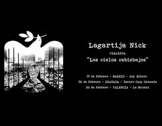 Fechas de Lagartija Nick en febrero - Presentación en directo de 'Los cielos cabizbajos'