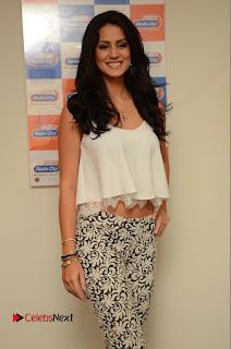 Actress Larissa Bonesi Stills At Radio City For Thikka Movie Promotions 0055