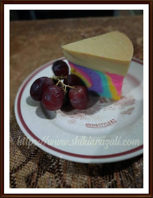 Kek Karamel Pelangi | Kek yang super sedap..!