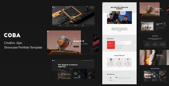 Best Creative Ajax Showcase Portfolio Template