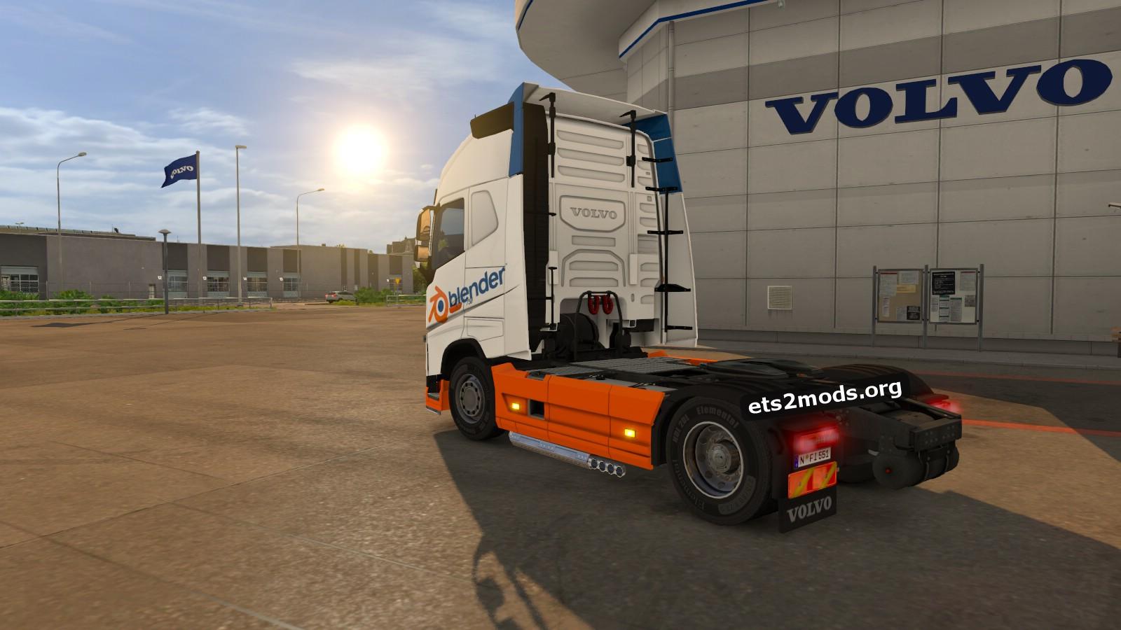 Blender Volvo skin