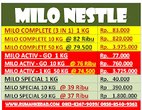 Distributor-Susu-Milo-Nestle