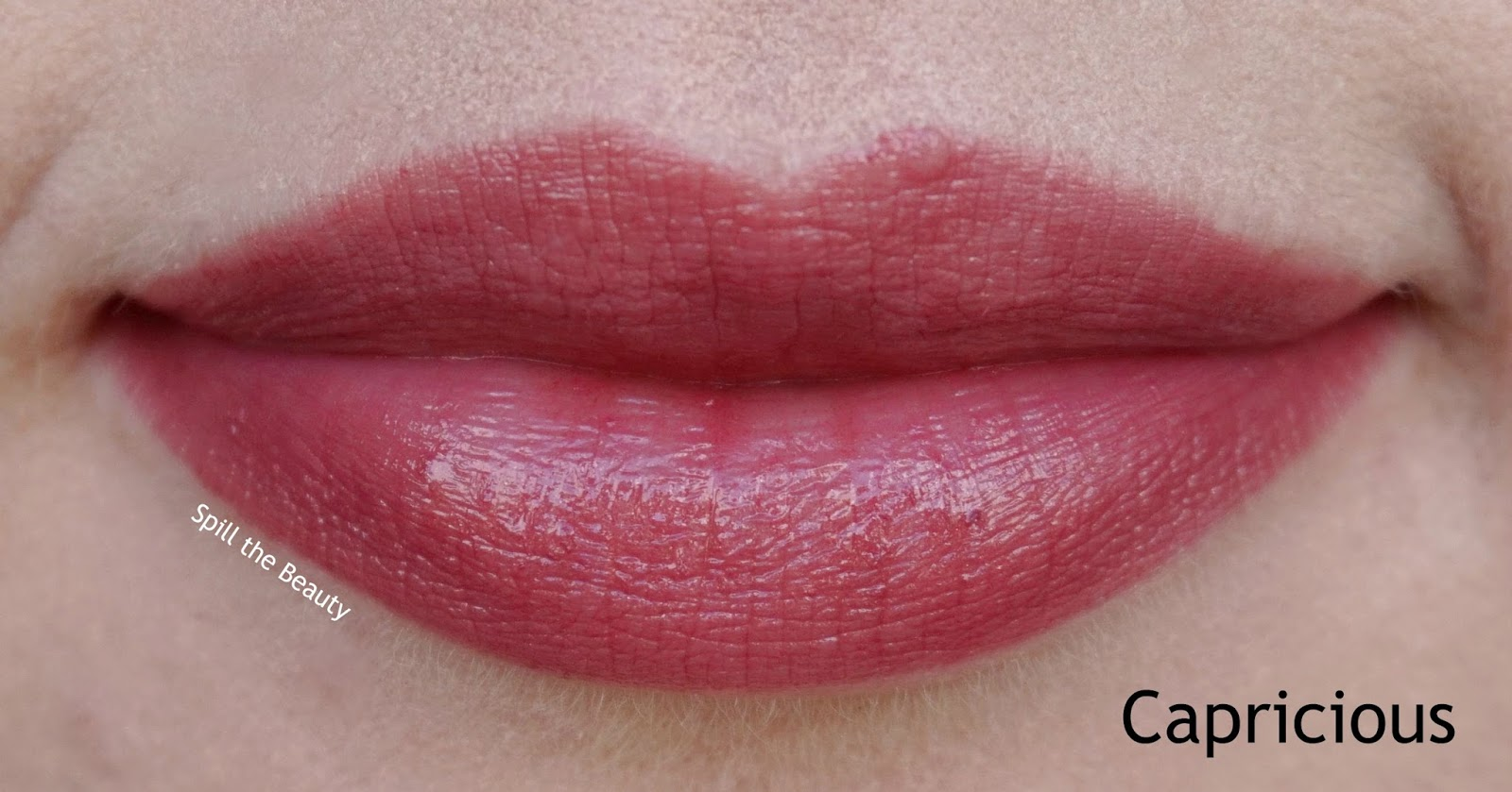 lip swatch mac lustre capricious comparison dupe