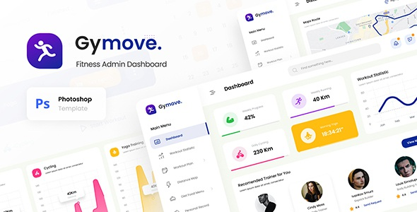 Best Fitness Admin Dashboard Website Design UI Template