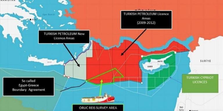 Προκαλούν οι Τούρκοι: Εξέδωσαν νέο χάρτη για έρευνες δίπλα σε Κάρπαθο και Καστελόριζο