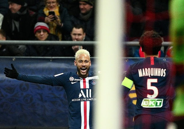 Reims 0-3 PSG: Neymar shines as PSG will play Lyon in Coupe de la Ligue final