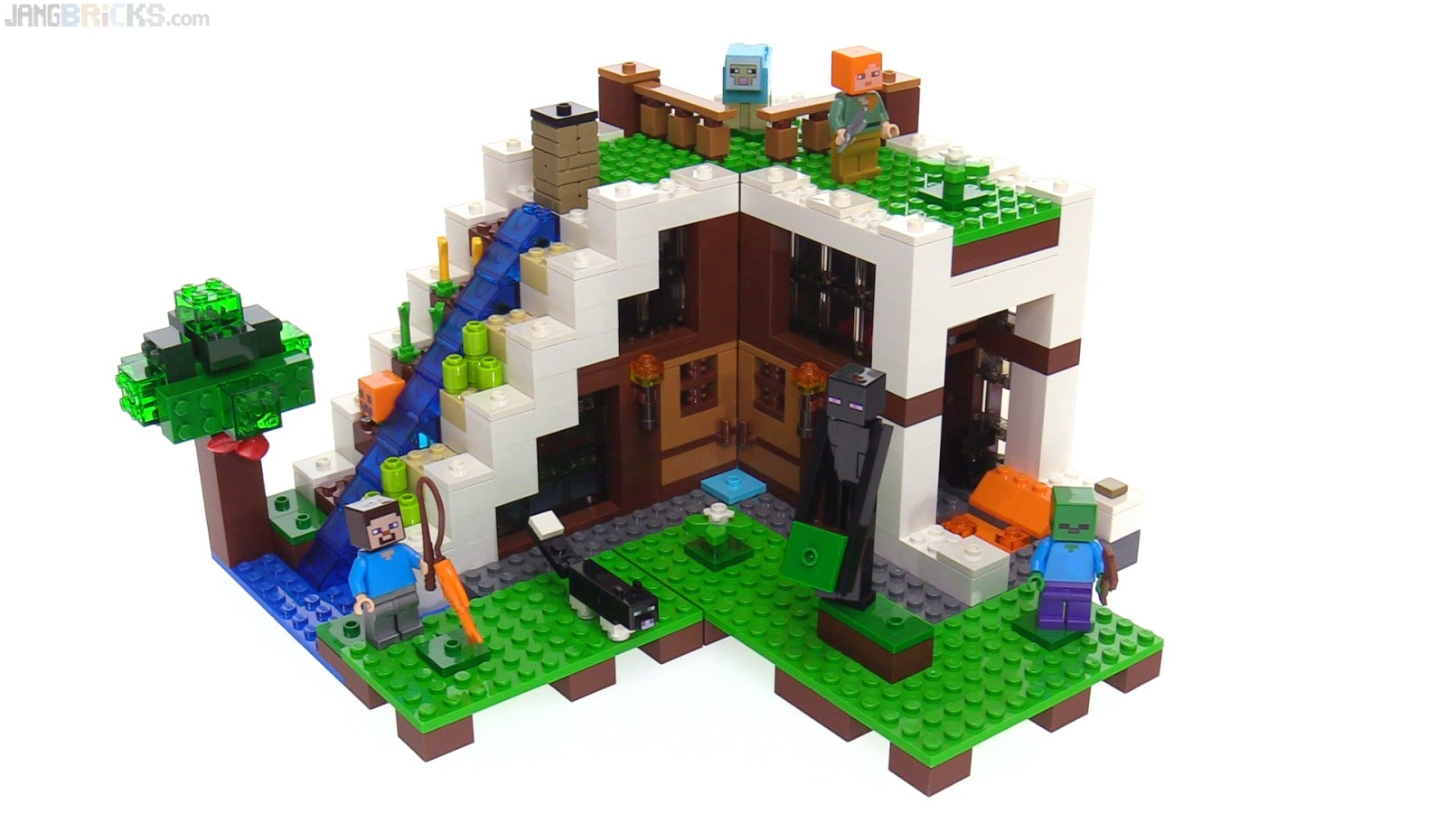 Lego Minecraft Waterfall Base Review 21134