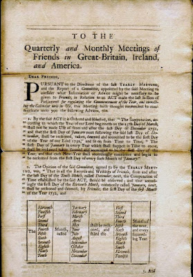 Climbing My Family Tree: Epistle sent by the London Yearly Meeting for Sufferings in 1751