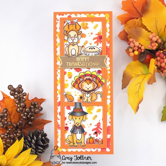 Newton's Nook Designs/Simon Says Stamp Stamptember Collaboration Stamp Set Talk Turkey #handmade