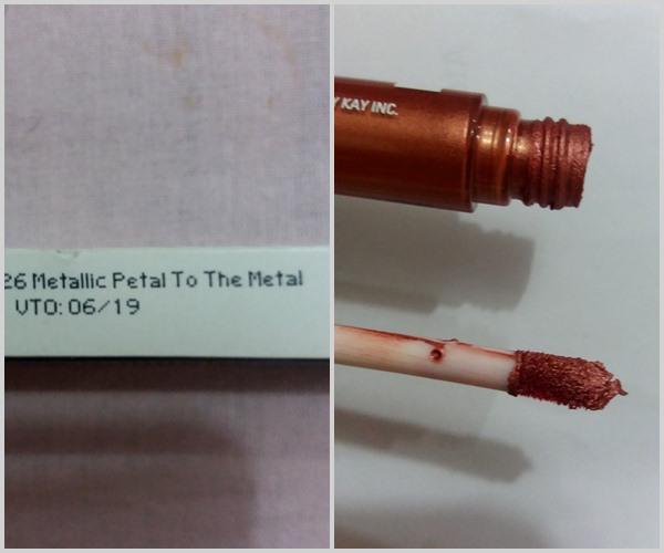Batom líquido: Petal to the metal da Mary Kay.