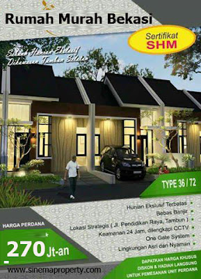 CLUSTER GRAHA MANDIRI Rumah Komersil Cicilan Flat Tambun Bekasi