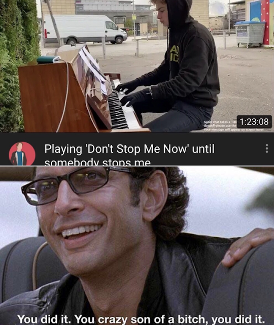 Somebody stopped him