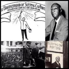 1925:  Brotherhood of Sleeping Car Porters organize.  A. Philip Randolph was elected president