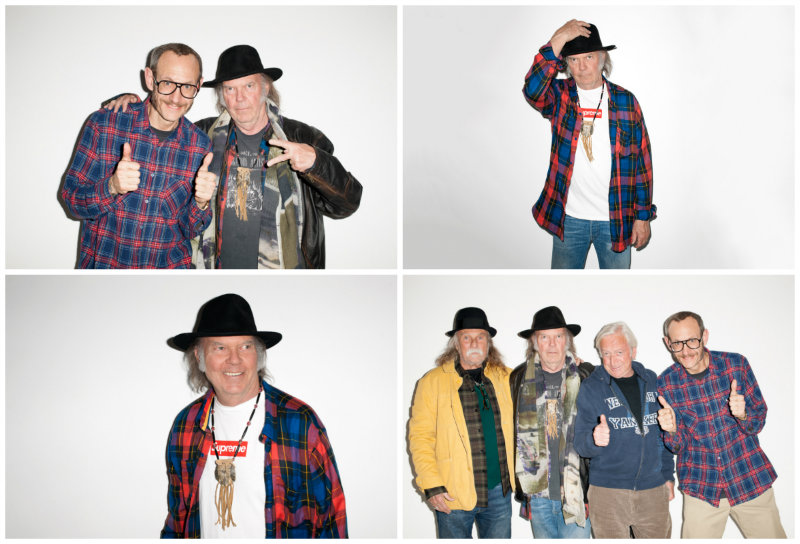Neil Young, Elliot Roberts und Gary Burden, Terry Richardson