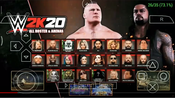 Download WWE 2K20 Lite PPSSPP 300MB Android Offline