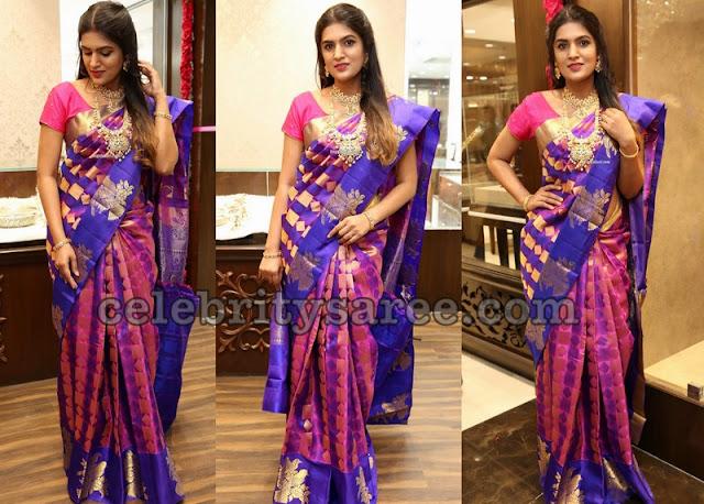 Ritu Biradar Purple Silk Saree