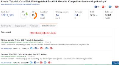Cara mengetahui backlink website dengan ahref2