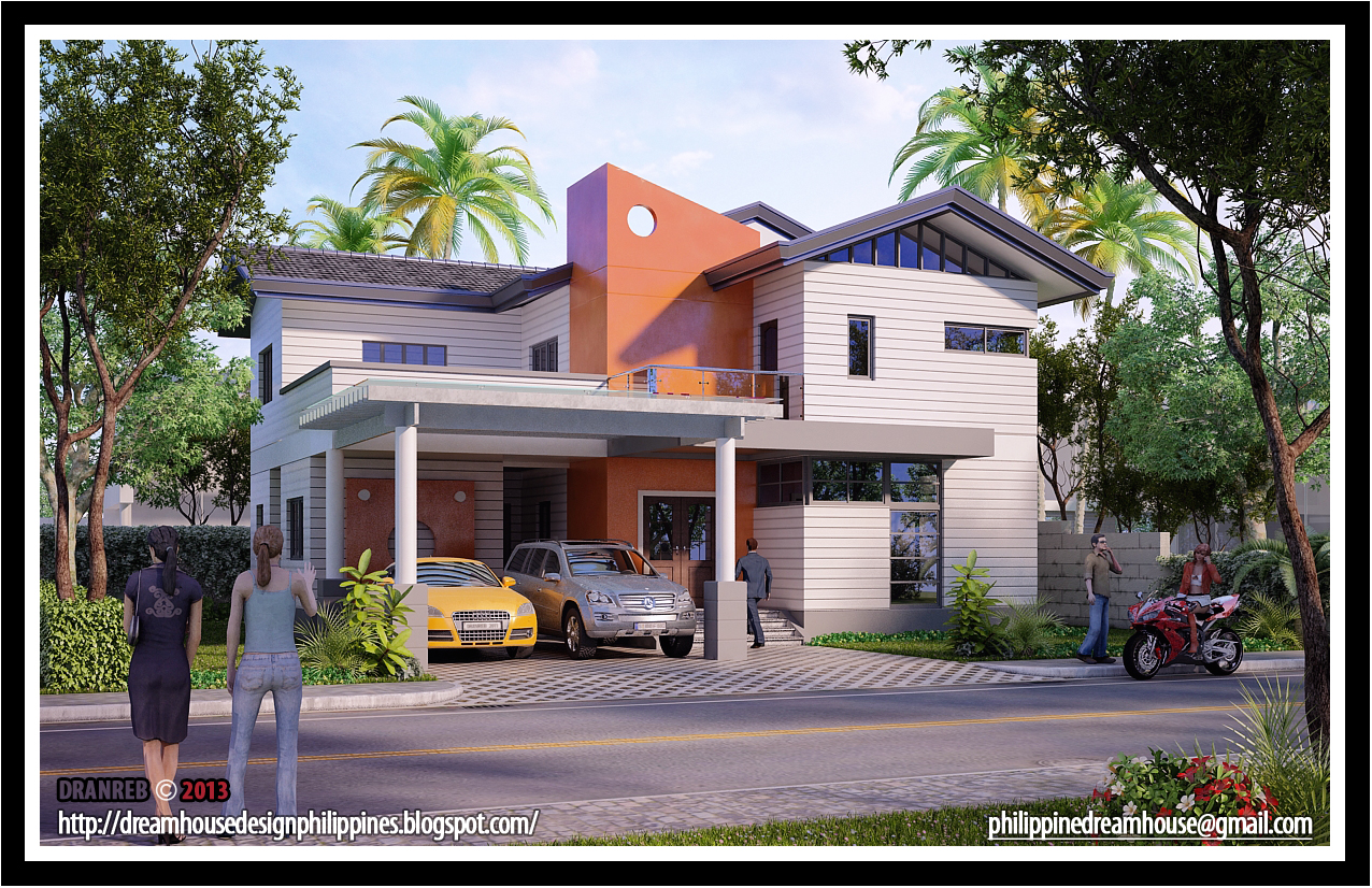 Philippine dream house design two storey house design for Two story contemporary house plans