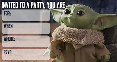 baby yoda party printables
