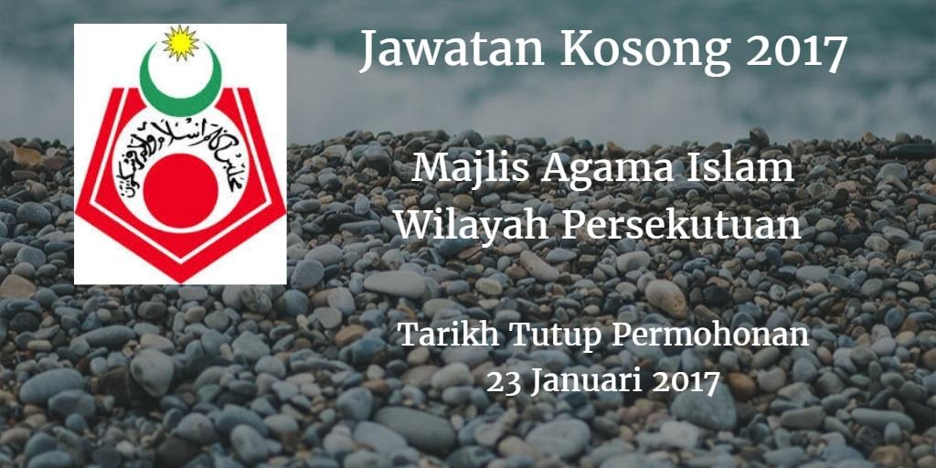 Jawatan Kosong MAIWP 23 Januari 2017