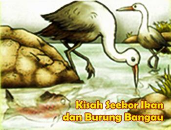 Kisah Ikan Dan Bangau Cerita Anak Dongeng Legenda Cerpen